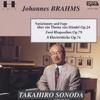 ブラ-ムス、内に秘めた情熱の歌 ヘンデルの主題による変奏曲とフ-ガ 2つのラプソディ- 8つのピアノ小品