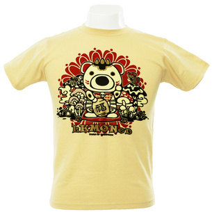 Psycho MANEKI bear Tシャツ   ナチュラル
