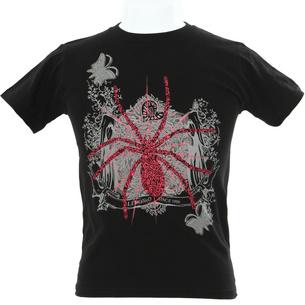 Spider Tシャツ | ブラック×ピンク