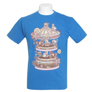 Merry-go-round of Sweets Tシャツ | ブルー