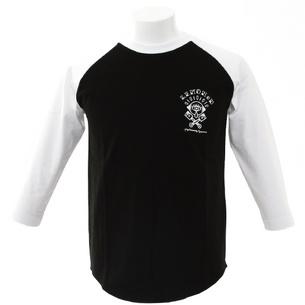 "L.C.C. ROUND1""KUJIRA"" 7分袖Tシャツ | ブラック×ホワイト"