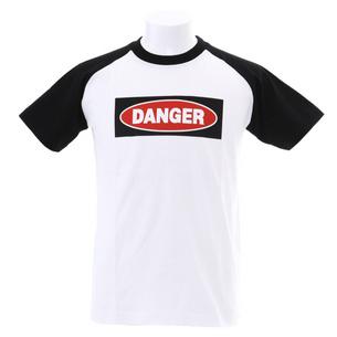 DANGER Tシャツ | ホワイト×ブラック