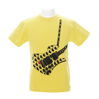 Fake Guitar YellowHeart Tシャツ   1