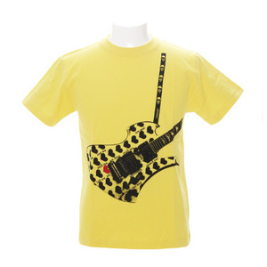 Fake Guitar YellowHeart Tシャツ