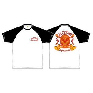 LEMONed MEX SKULL  ラグランTシャツ | ホワイト×ブラック