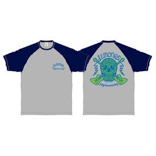 LEMONed MEX SKULL  ラグランTシャツ | グレー×ネイビー