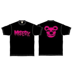 Tシャツ/MISERY | ブラック×ピンク