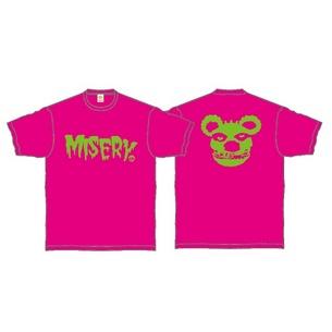 Tシャツ/MISERY | ピンク×グリーン