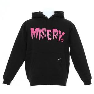 プルオーバーパーカー/MISERY | ブラック×ピンク