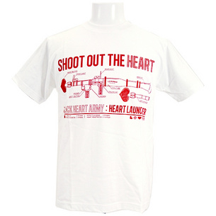 Tシャツ/SHOOT OUT THE HEART | ホワイト