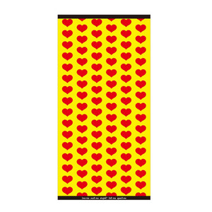 ジャガード バスタオル/Yellow Heart