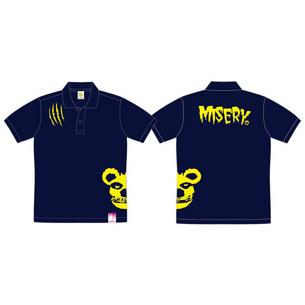 ポロシャツ/MISERY | ネイビー×イエロー