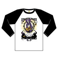 ラグラン7分袖Tシャツ/Romanticism LEMONeD【WH×BK】 | 1