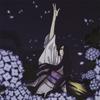 月に斑雲 紫陽花に雨