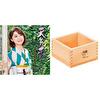 【セット販売】天気雨 + オリジナルの焼印入り木製枡