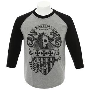 エンブレム 7分袖Tシャツ | グレー×ブラック