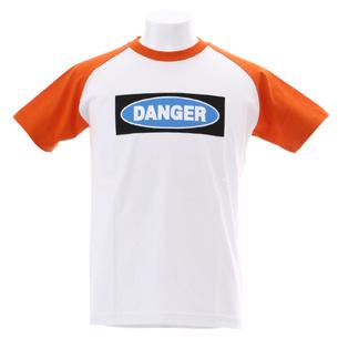 DANGER Tシャツ | ホワイト×オレンジ
