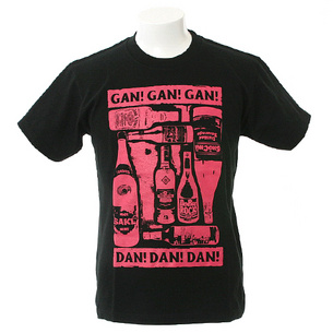 Drunkard Tシャツ | ブラック×ピンク