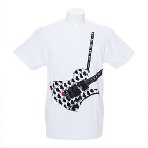 Fake Guitar YellowHeart Tシャツ | ホワイト
