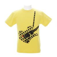 Fake Guitar YellowHeart Tシャツ | 1