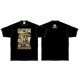 Drunkard Tシャツ | ブラック×ゴールド