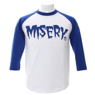 7分袖Tシャツ/MISERY | ホワイト×ブルー
