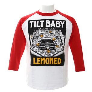7分袖Tシャツ/TILT BABY | ホワイト×レッド
