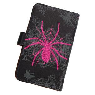 iphone6手帳型カバー / Spider | ブラック/ピンク