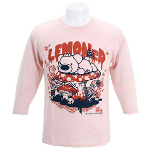 7分袖Tシャツ/もさっとP.B  | ライトピンク