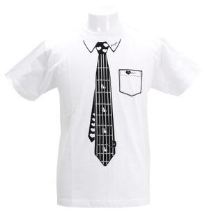 Tシャツ/Fake Necktie   ホワイト