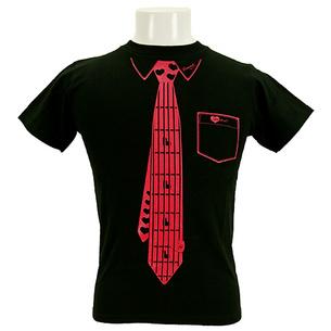 Tシャツ/Fake Necktie | ブラック×ピンク
