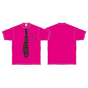 Tシャツ/Fake Necktie | ピンク×ブラック