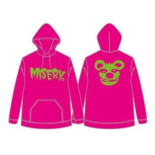 プルオーバーパーカー/MISERY | ピンク×グリーン