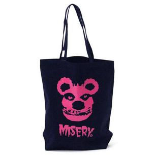 MISERY トートバッグ | ネイビー×ピンク