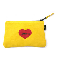Yellow Heart ファスナーケース | 2