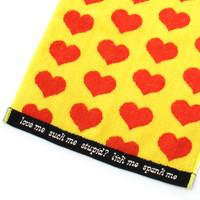 ジャガード フェイスタオル/Yellow Heart | 3
