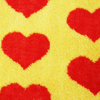 ジャガード フェイスタオル/Yellow Heart | 4
