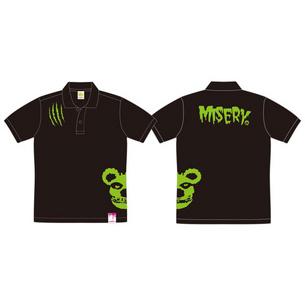 ポロシャツ/MISERY | ブラック×グリーン