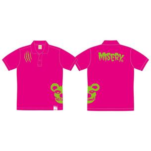 ポロシャツ/MISERY | ピンク×グリーン