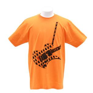 Tシャツ/Fake Guitar | コーラルオレンジ