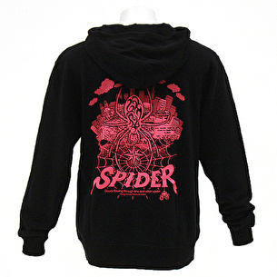 ジップアップパーカー/URBAN SPIDER | ブラック×ピンク