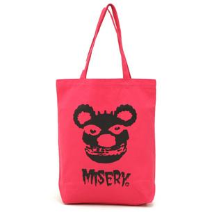 トートバッグM/MISERY | ピンク×ブラック