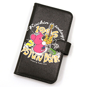iPhoneカバー手帳型M/Rockin it today!【BK】