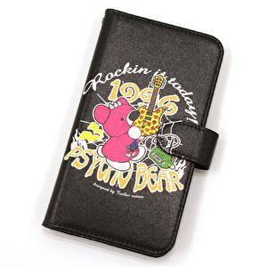 iPhoneカバー手帳型L/Rockin it today!【BK】