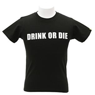Tシャツ/DRINK OR DIE | ブラック