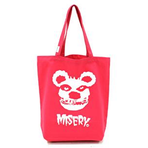 トートバッグM/MISERY | ピンク×ホワイト