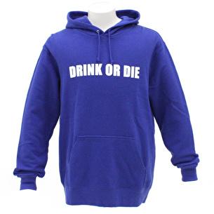プルオーバーパーカー/DRINK OR DIE | ブルー