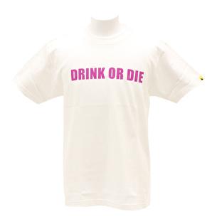 Tシャツ/シンプルDRINK OR DIE | ホワイト×パープル