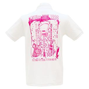 ポロシャツ/Dream & Hope | ホワイト×ピンク