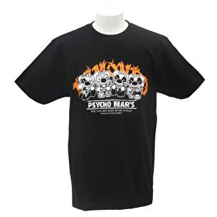 Tシャツ/K.F.PSYCHO BEAR'S | ブラック×オレンジ